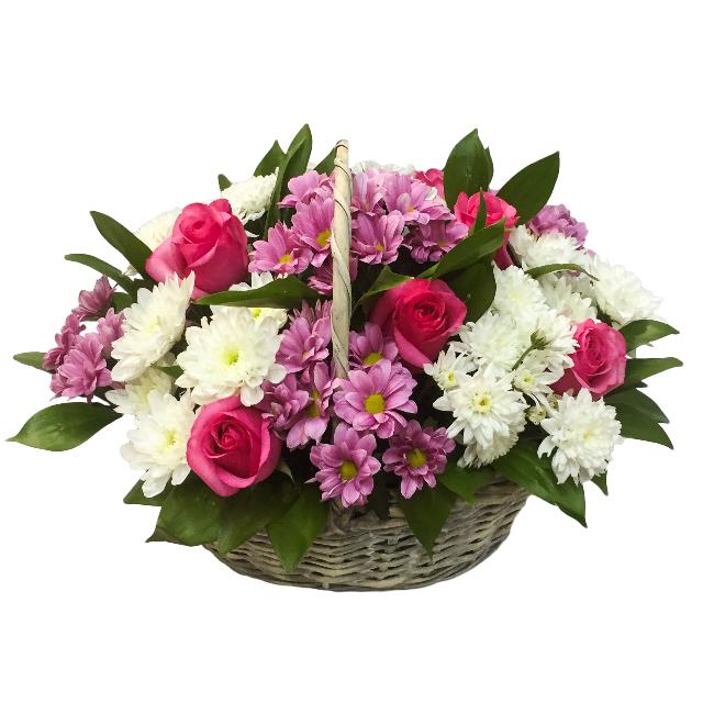 Корзина цветов с доставка астана милана
